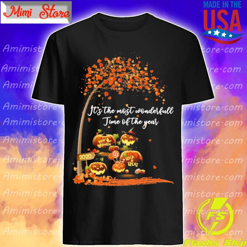 Pumpkin Happy Halloween 2020 It's the most wonderful time of the year shirt