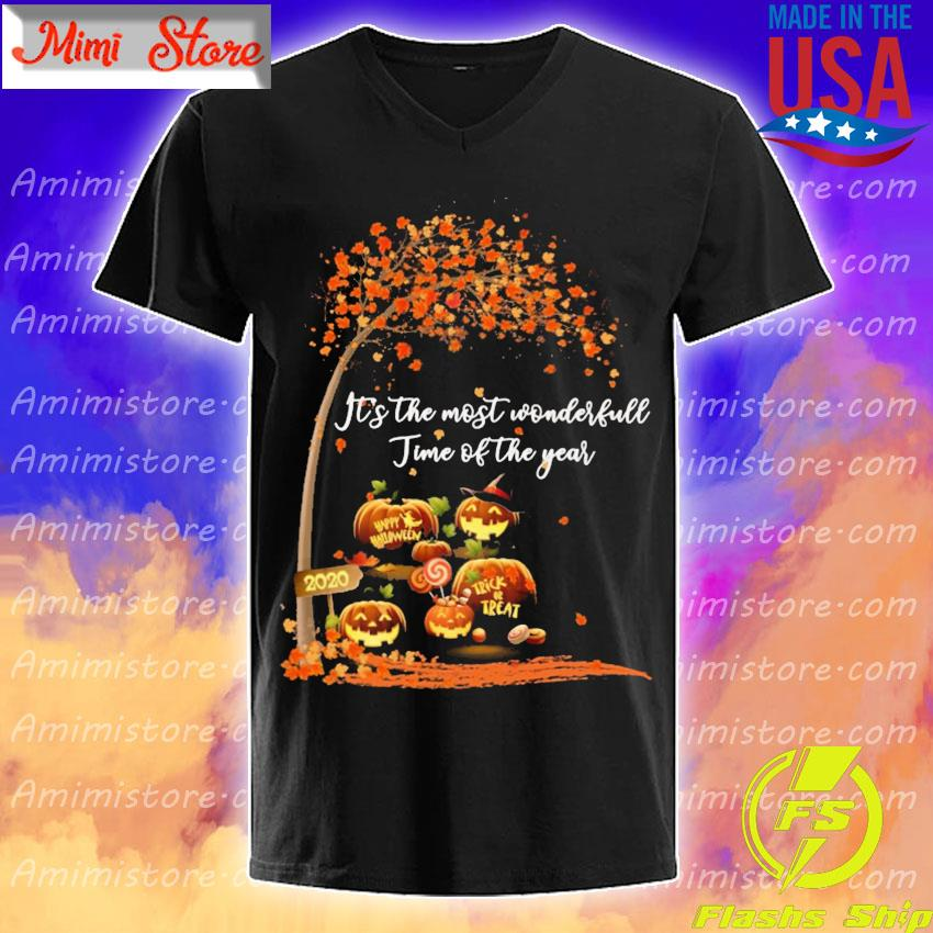 Pumpkin Happy Halloween 2020 It's the most wonderful time of the year s V-Neck