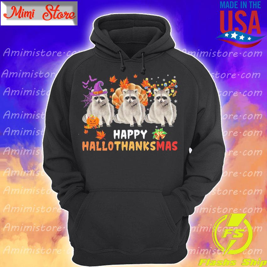 Raccoons Turkey Happy Hallothanksmas s Hoodie