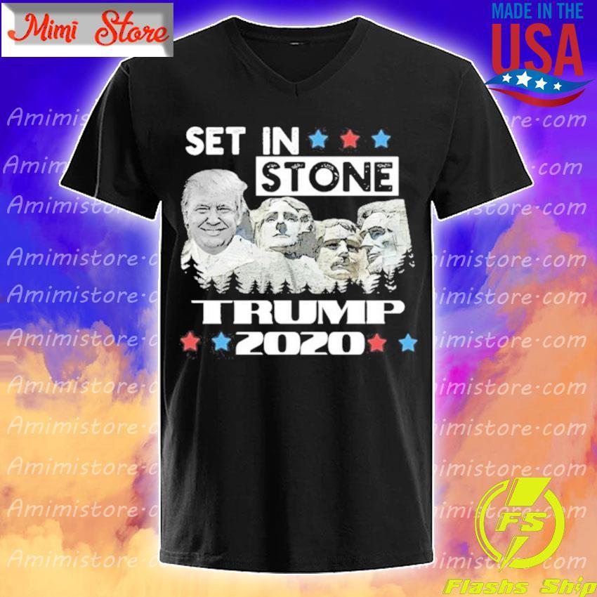 Set in stone Trump 2020 s V-Neck
