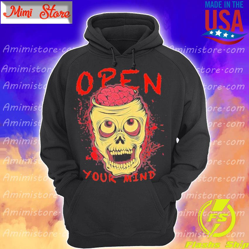 Skull Open Your Mind Halloween s Hoodie