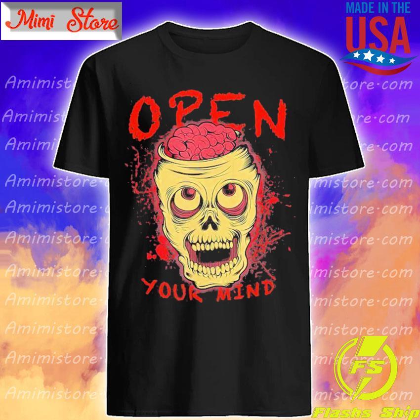 Skull Open Your Mind Halloween shirt