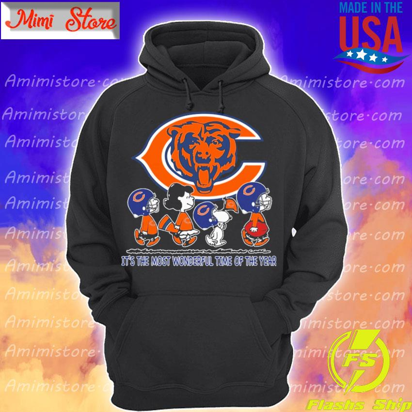 The Peanuts characters Chicago Bears It's the most wonderful time of the year abbey road s Hoodie