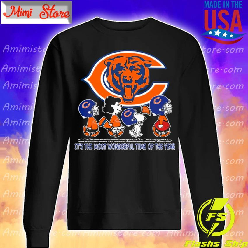 The Peanuts characters Chicago Bears It's the most wonderful time of the year abbey road s Sweatshirt