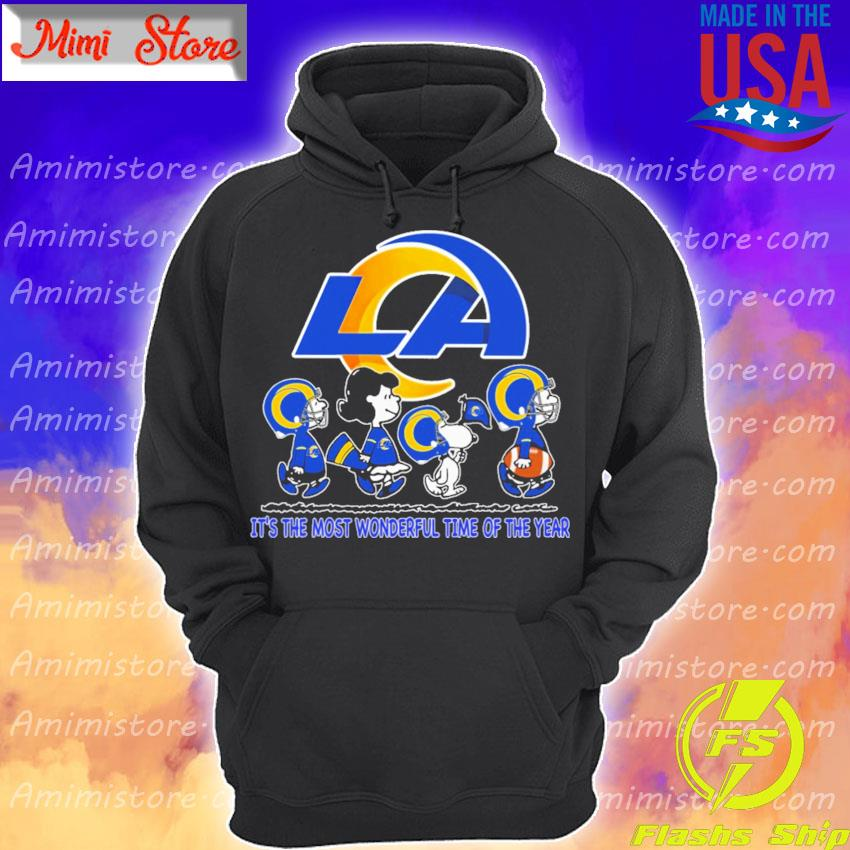The Peanuts characters Los Angeles Rams it's the most wonderful time of the year s Hoodie
