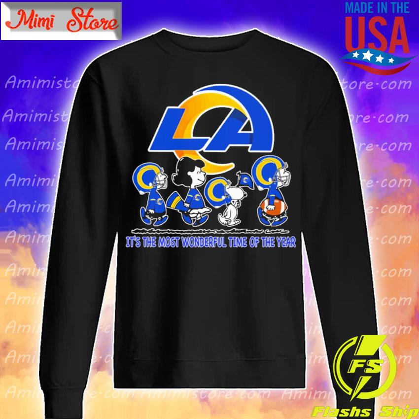 The Peanuts characters Los Angeles Rams it's the most wonderful time of the year s Sweatshirt