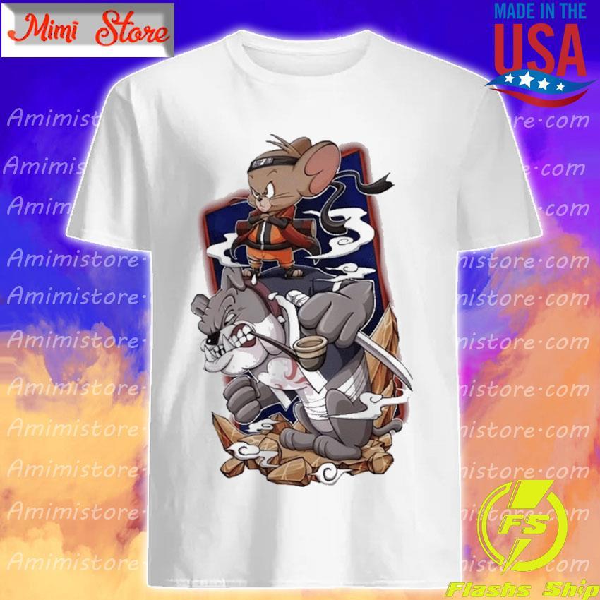 Tom and Jerry Naruto and Kakashi shirt