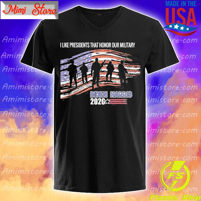 Veterans Against Trump Vote Joe Biden Respect Fallen Soldier Shirt V-Neck