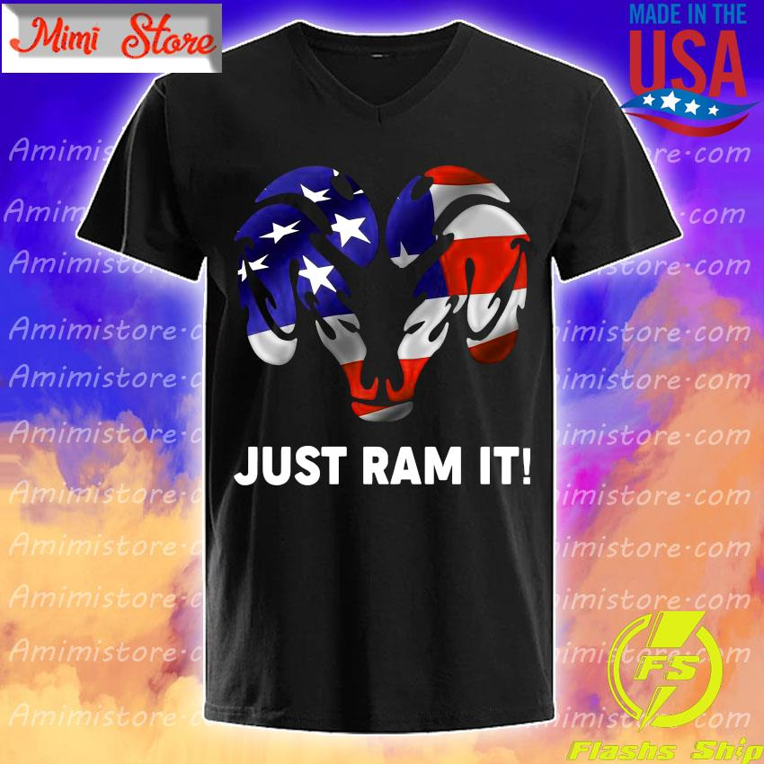 American flag Just Dodge Ram it shirt