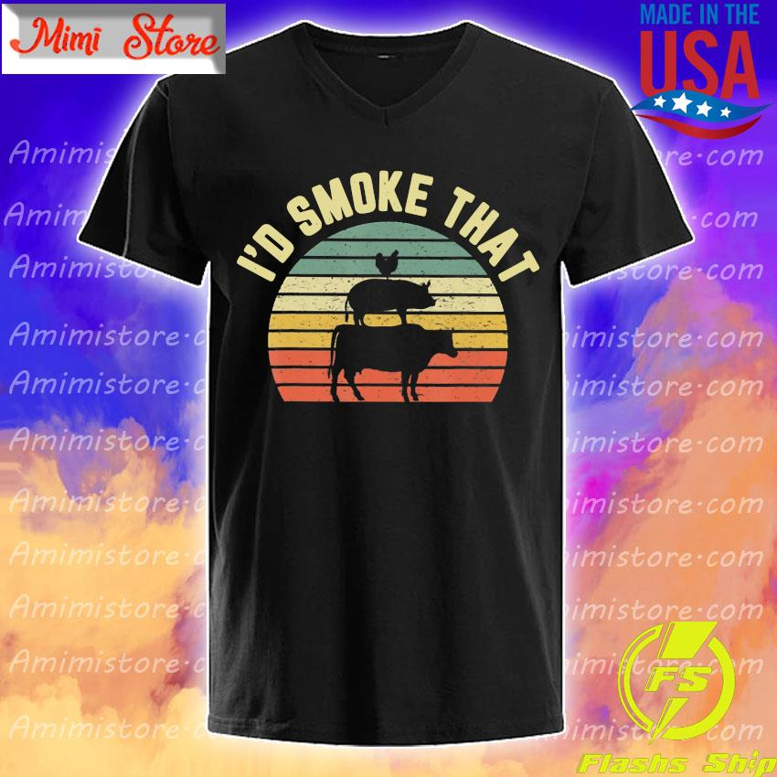 BBQ I'd Smoke That Retro Barbeque Grilling Shirt
