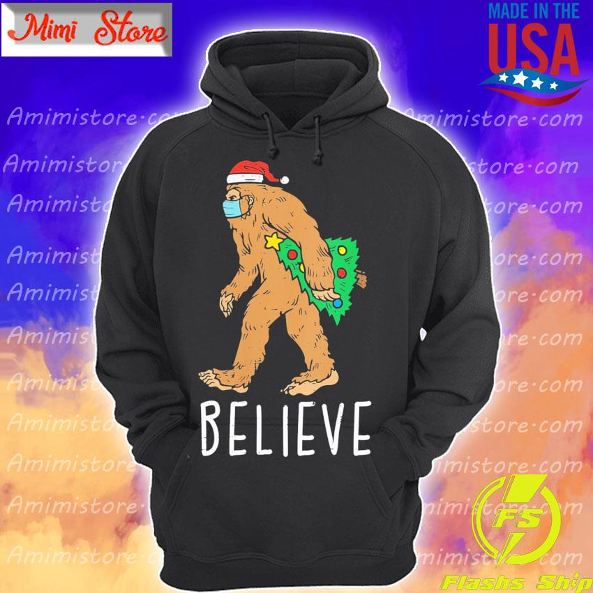 Bigfoot Sasquatch Mask Christmas Tree s Hoodie