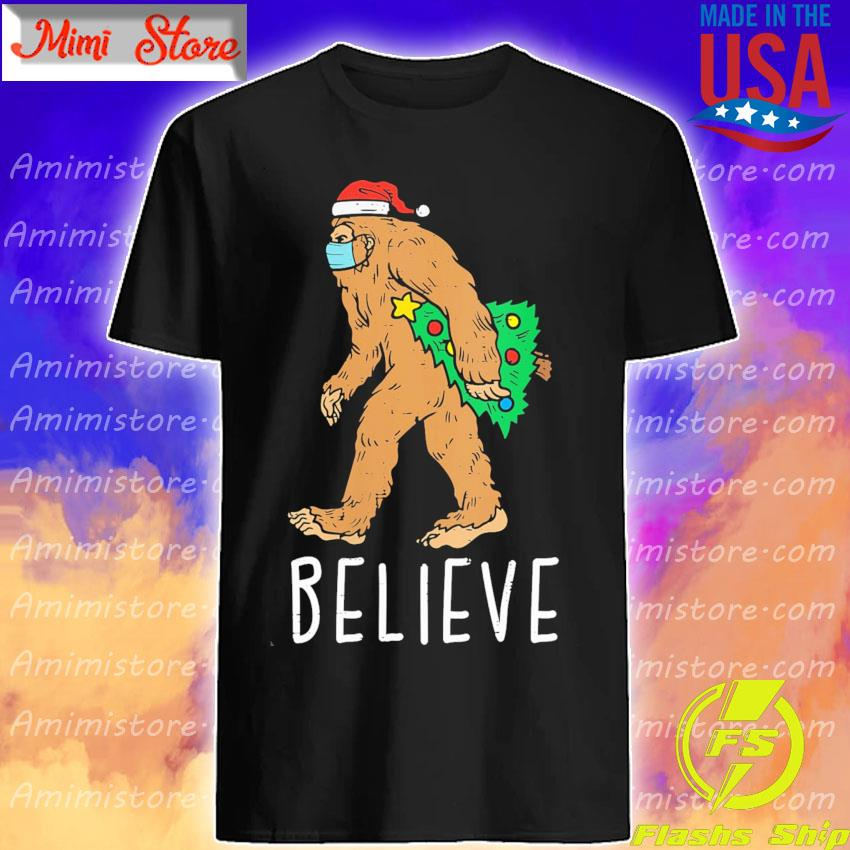 Bigfoot Sasquatch Mask Christmas Tree s Shirt