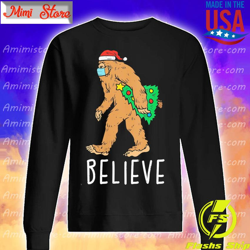 Bigfoot Sasquatch Mask Christmas Tree s Sweatshirt