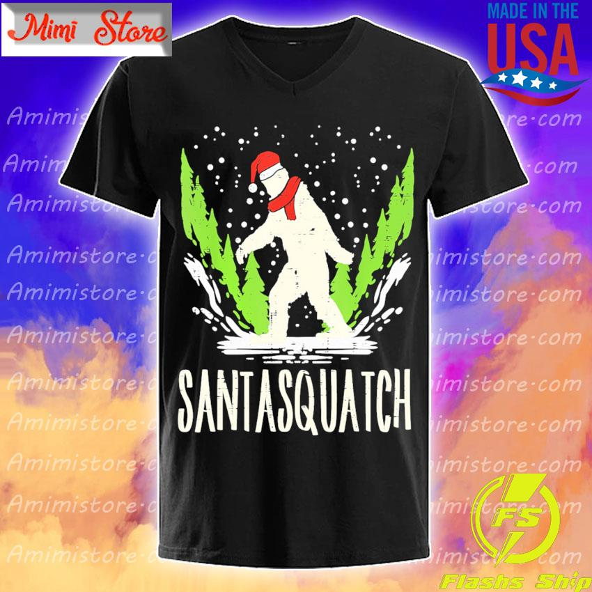Bigfoot Sasquatch Santasquatch Christmas shirt