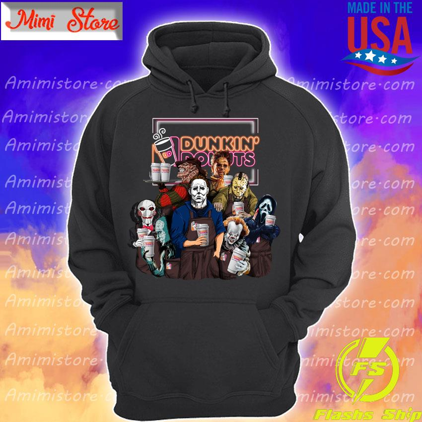 Horror movie character drink Dunkin' Donuts Halloween s Hoodie