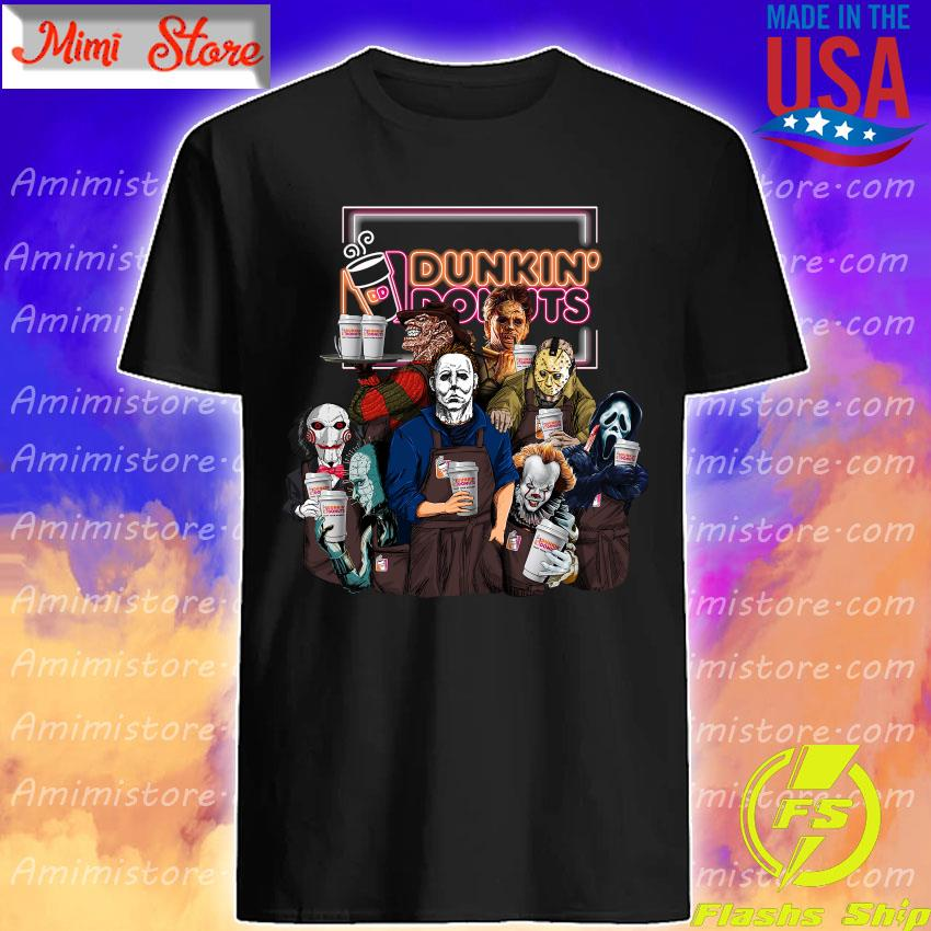 Horror movie character drink Dunkin' Donuts Halloween s Shirt