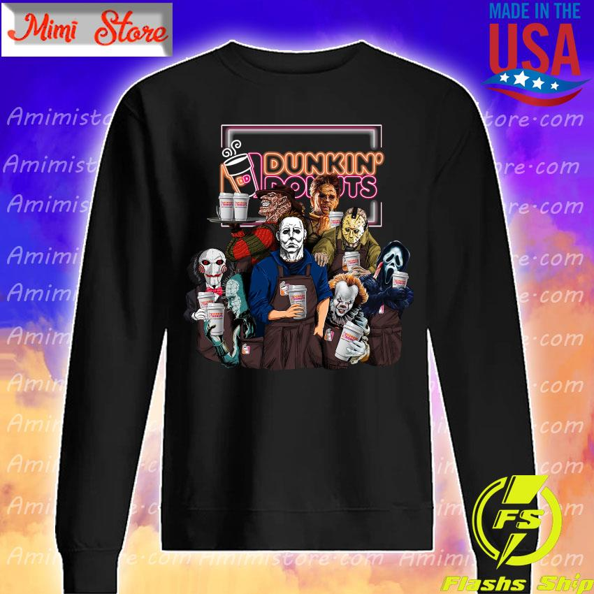 Horror movie character drink Dunkin' Donuts Halloween s Sweatshirt