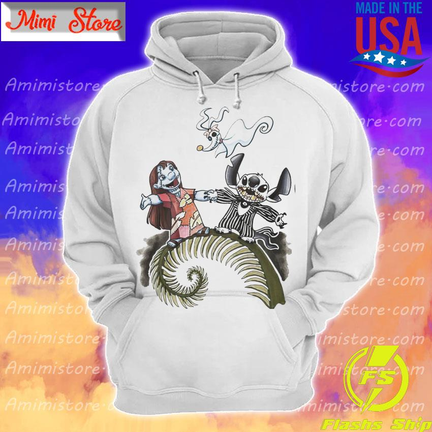 Lilo And Stitch As Jack Skelling And Sally Zero Shirt Hoodie