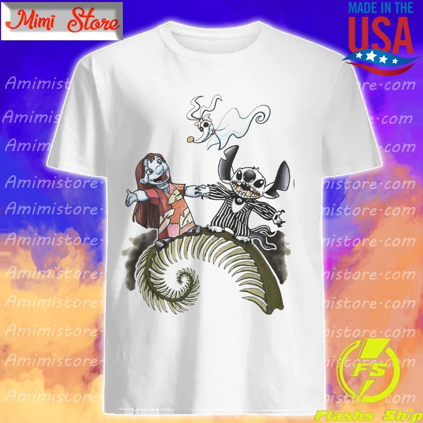 Lilo And Stitch As Jack Skelling And Sally Zero Shirt
