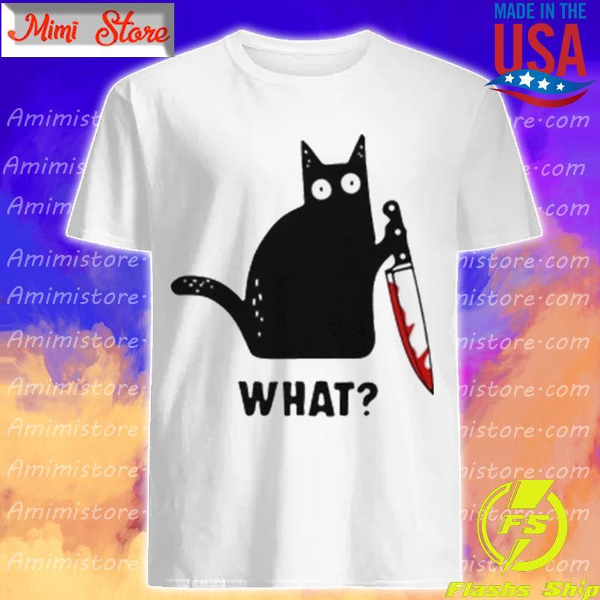 Michael Myers Black Cat what Halloween shirt