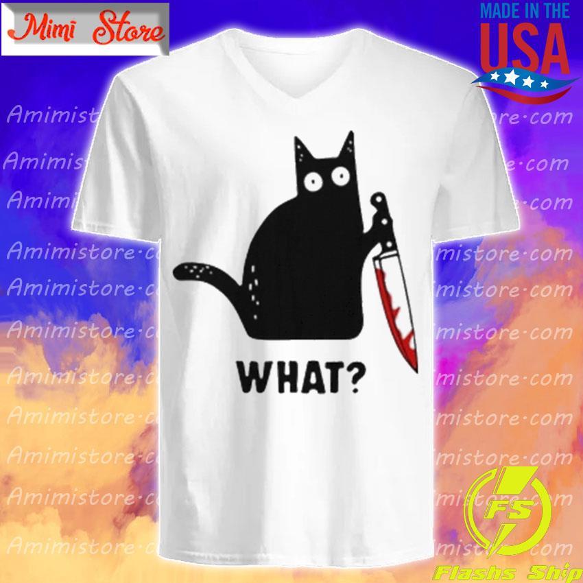 Michael Myers Black Cat what Halloween s V-Neck