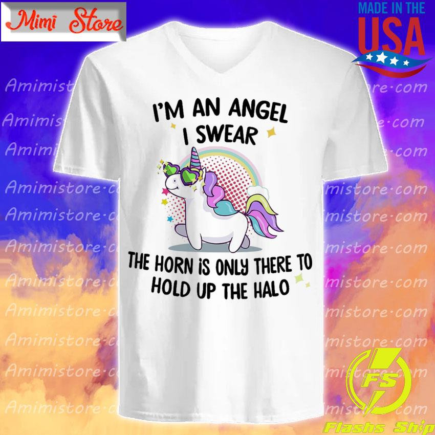 Official Unicorn I'm an Angel I swear the horn is only there to hold up the Halo s V-Neck