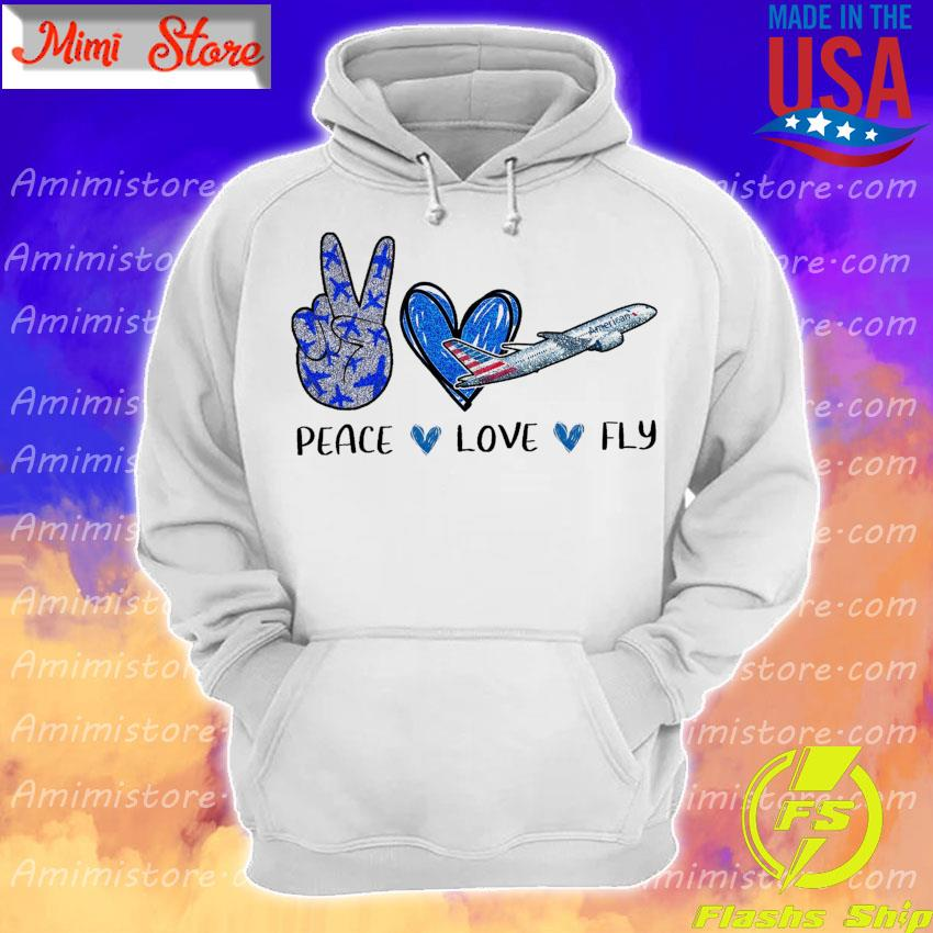 Peace Love Fly American Diamond s Hoodie