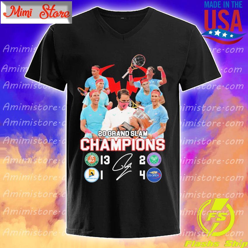 Rafael Nadal 20 Grand Slam Champions signature shirt
