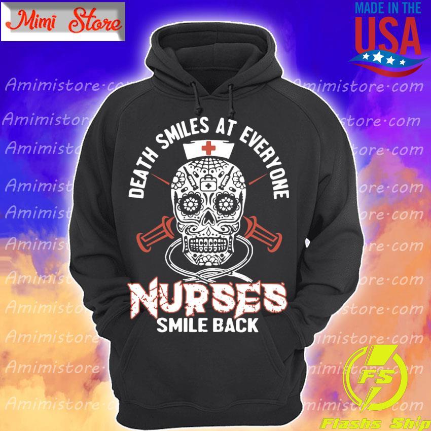 Skull Death smiles at everyone Nurses smile black s Hoodie