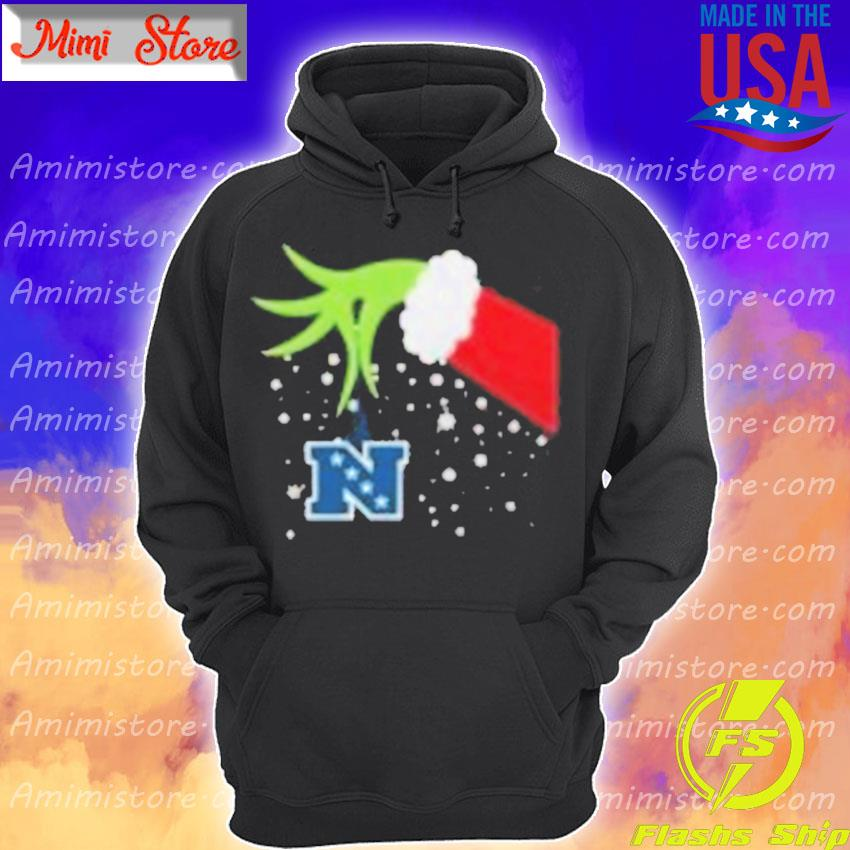 2020 Grinch Hand National Football Conference Merry Christmas Shirt Hoodie