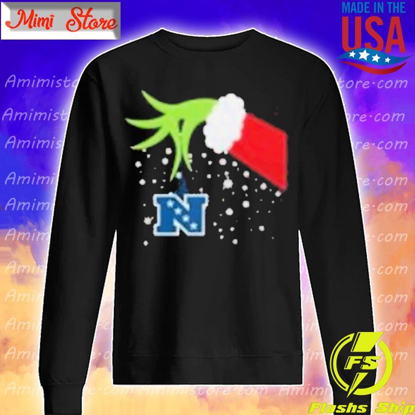 2020 Grinch Hand National Football Conference Merry Christmas Shirt Sweatshirt