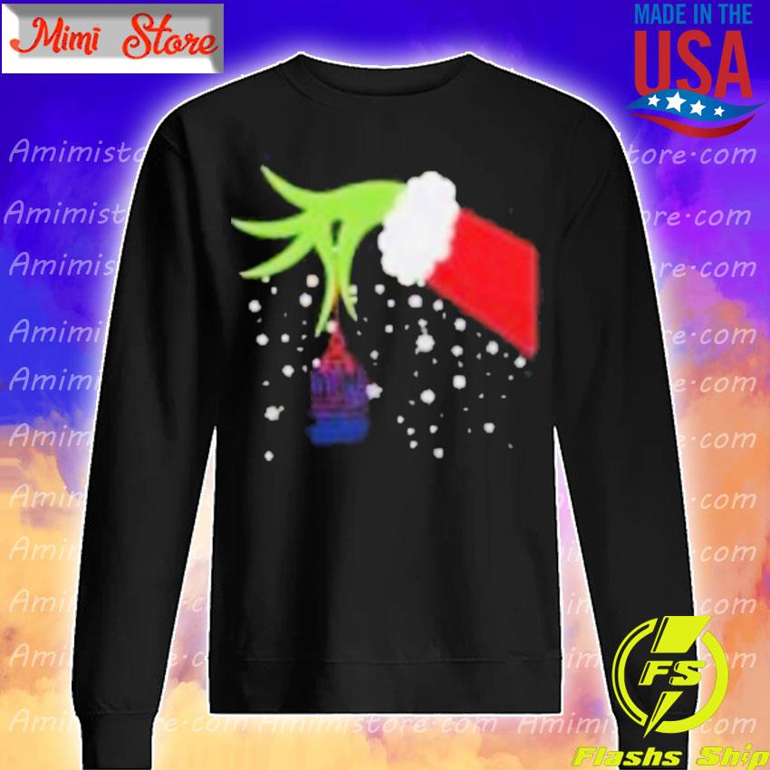 2020 Grinch Hand New York Giants Football Merry Christmas Shirt Sweatshirt
