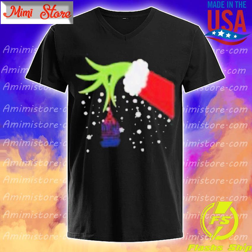 2020 Grinch Hand New York Giants Football Merry Christmas Shirt