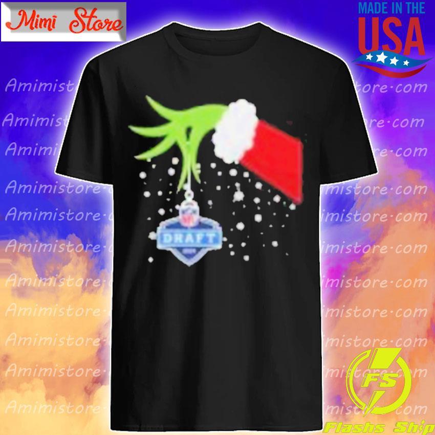 2020 Xmas Grinch Hand NFL Draft Merry Christmas Shirt Shirt