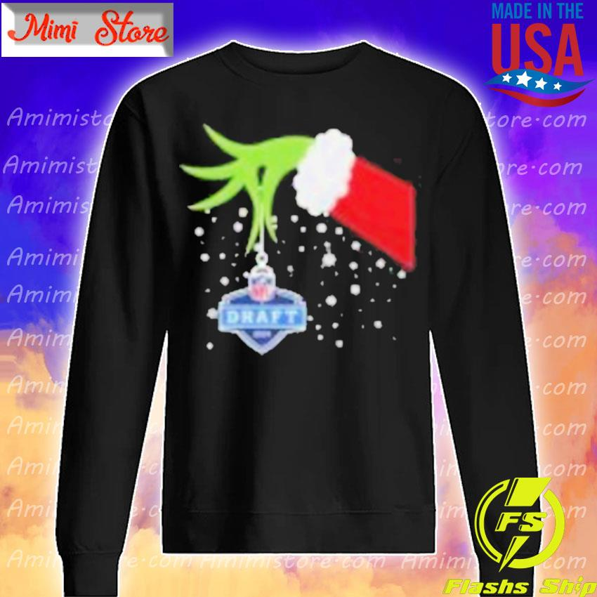 2020 Xmas Grinch Hand NFL Draft Merry Christmas Shirt Sweatshirt