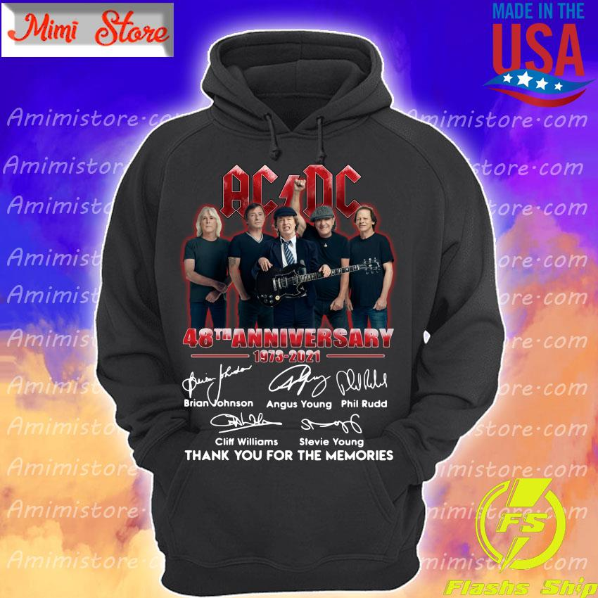 AC DC 48th anniversary 1973 2021 thank you for the memories signatures s Hoodie