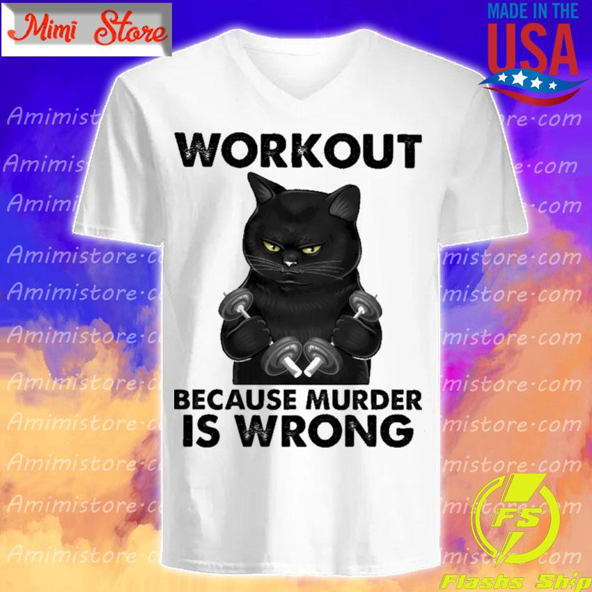 Black Cat Gym Workout because murder is wrong s V-Neck