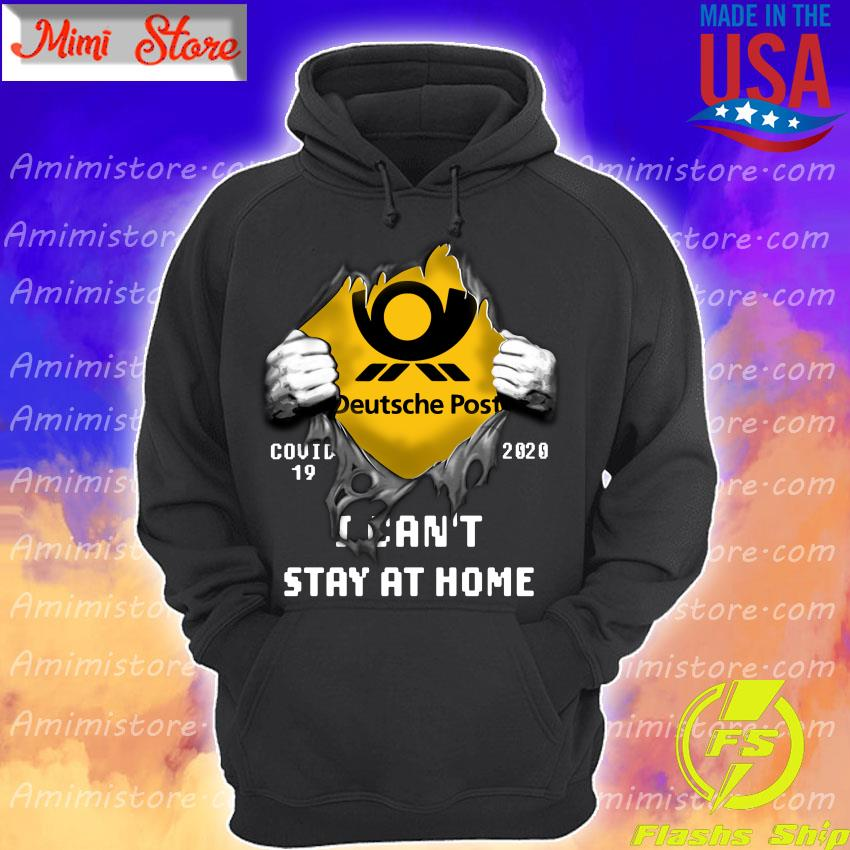 Blood inside me Deutsche Post covid 19 2020 I can't stay at home s Hoodie