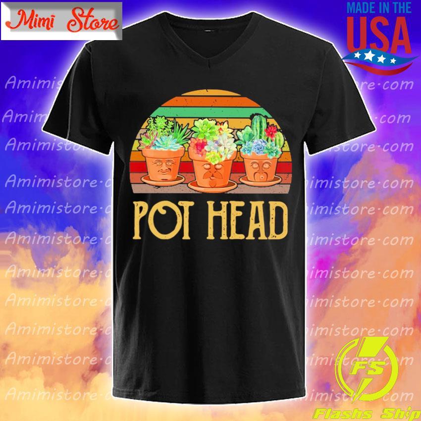 Cactus Pot head vintage retro shirt
