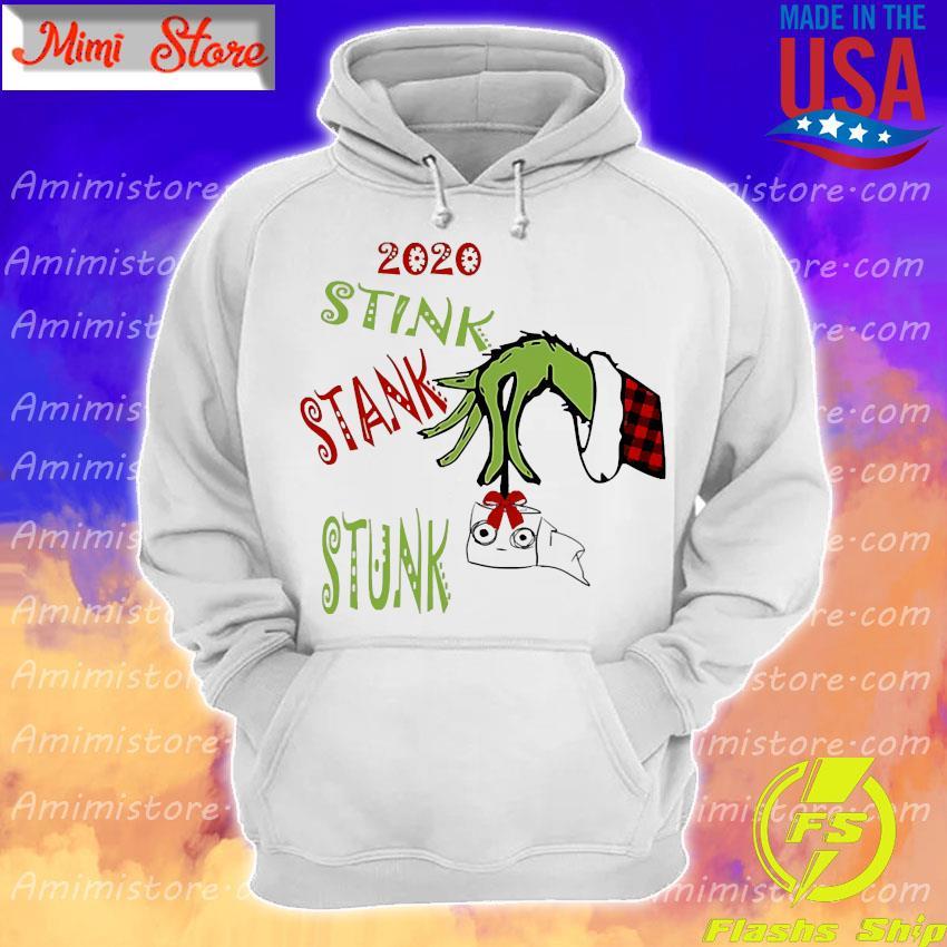Grinch hand holding toilet paper 2020 stink stank stunk s Hoodie