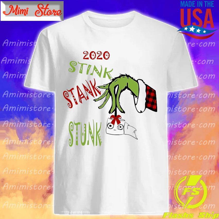 Grinch hand holding toilet paper 2020 stink stank stunk shirt