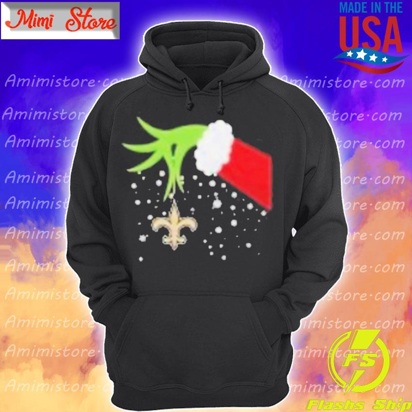 Grinch Hand New Orleans Saints Merry Christmas 2020 Shirt Hoodie
