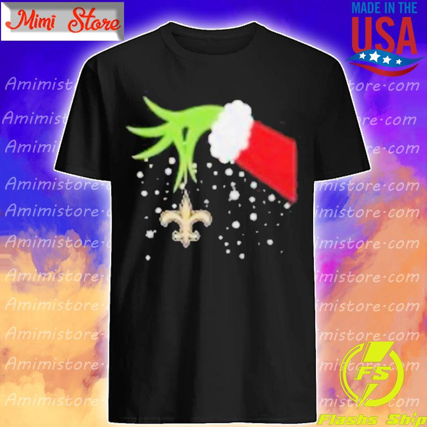 Grinch Hand New Orleans Saints Merry Christmas 2020 Shirt Shirt
