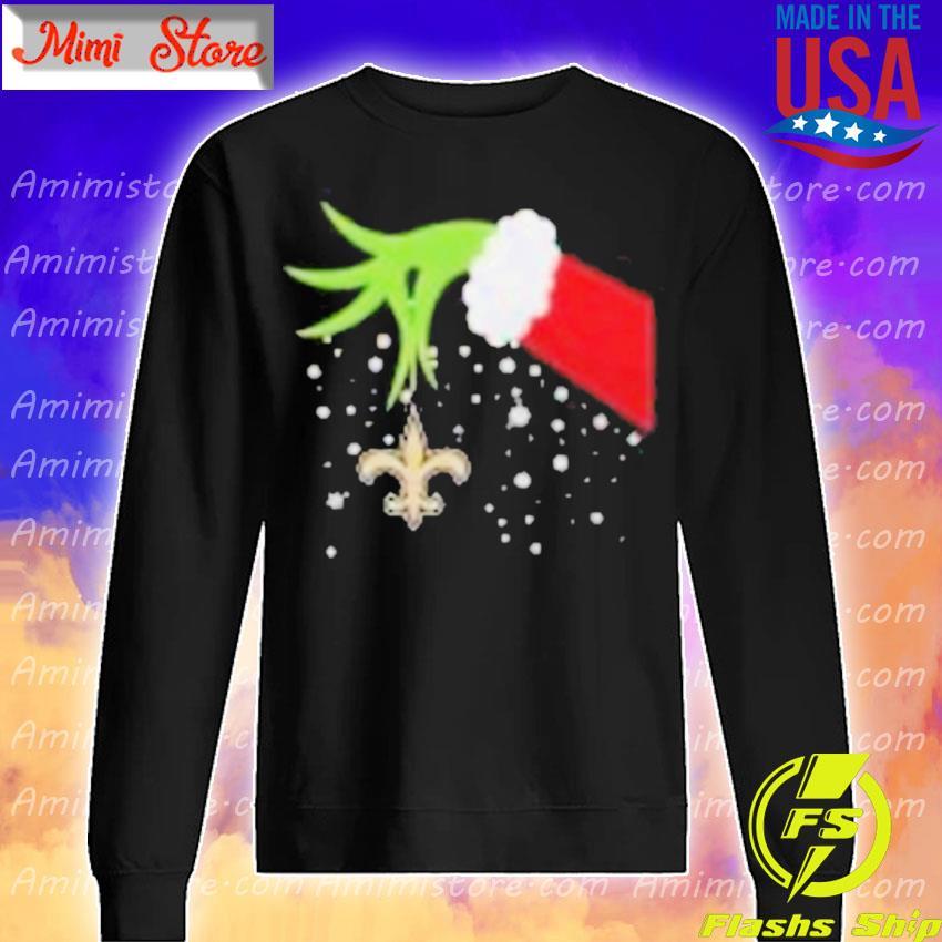 Grinch Hand New Orleans Saints Merry Christmas 2020 Shirt Sweatshirt