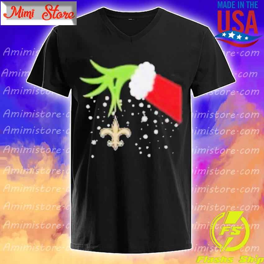 Grinch Hand New Orleans Saints Merry Christmas 2020 Shirt