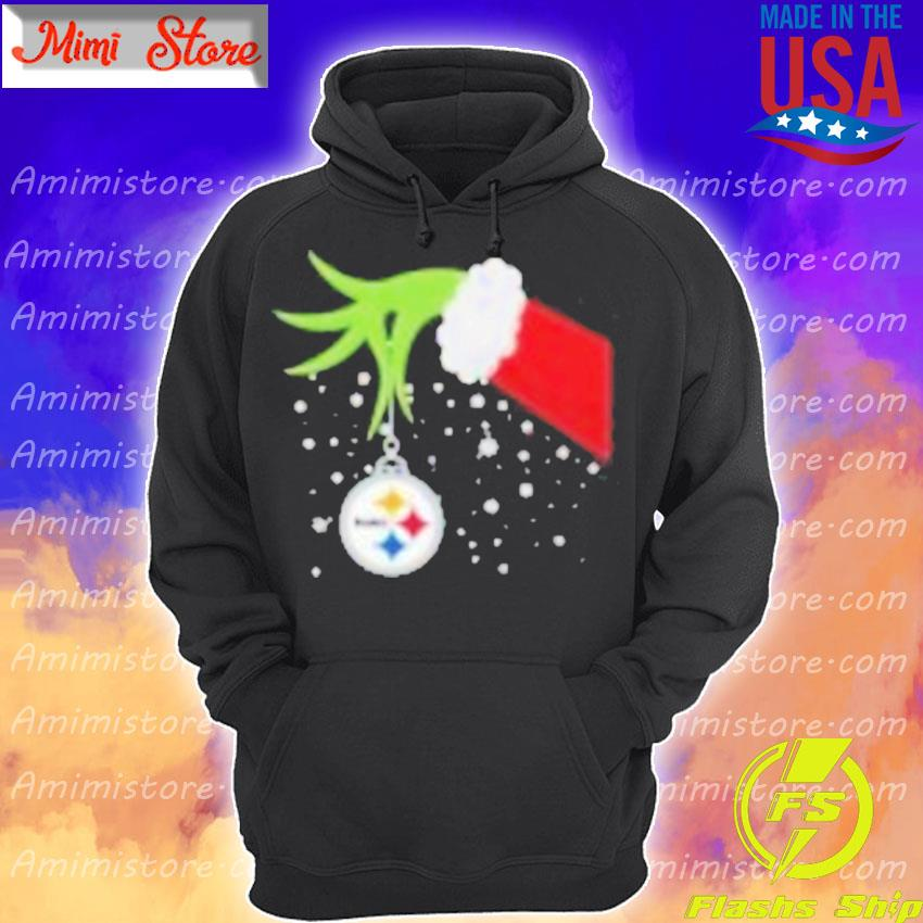 Grinch Hand Pittsburgh Steelers Merry Christmas 2020 Shirt Hoodie