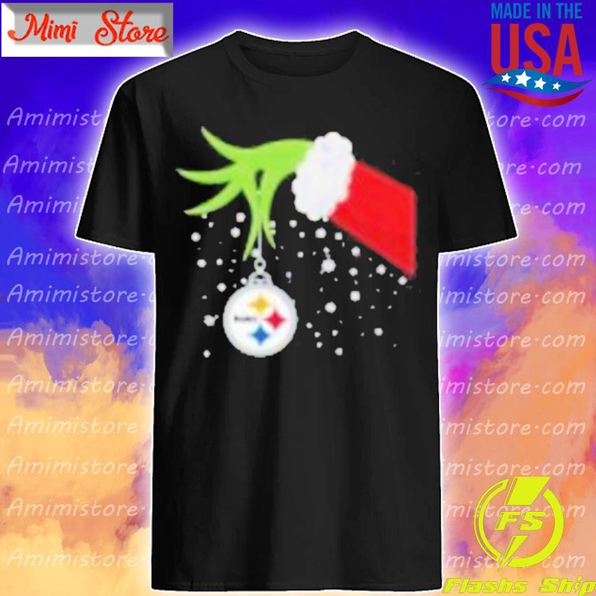 Grinch Hand Pittsburgh Steelers Merry Christmas 2020 Shirt Shirt