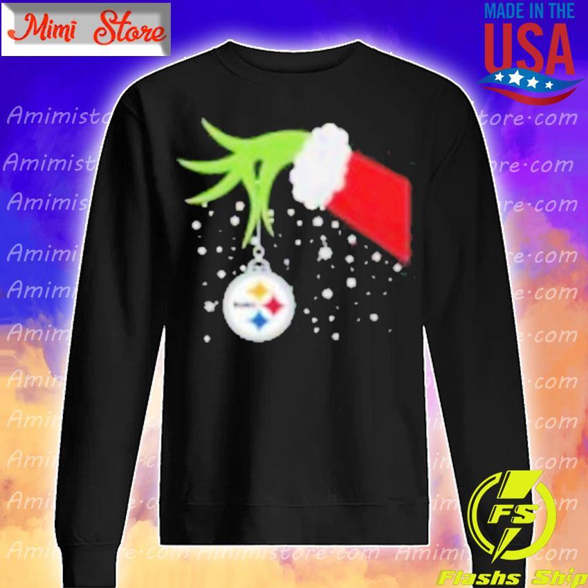 Grinch Hand Pittsburgh Steelers Merry Christmas 2020 Shirt Sweatshirt