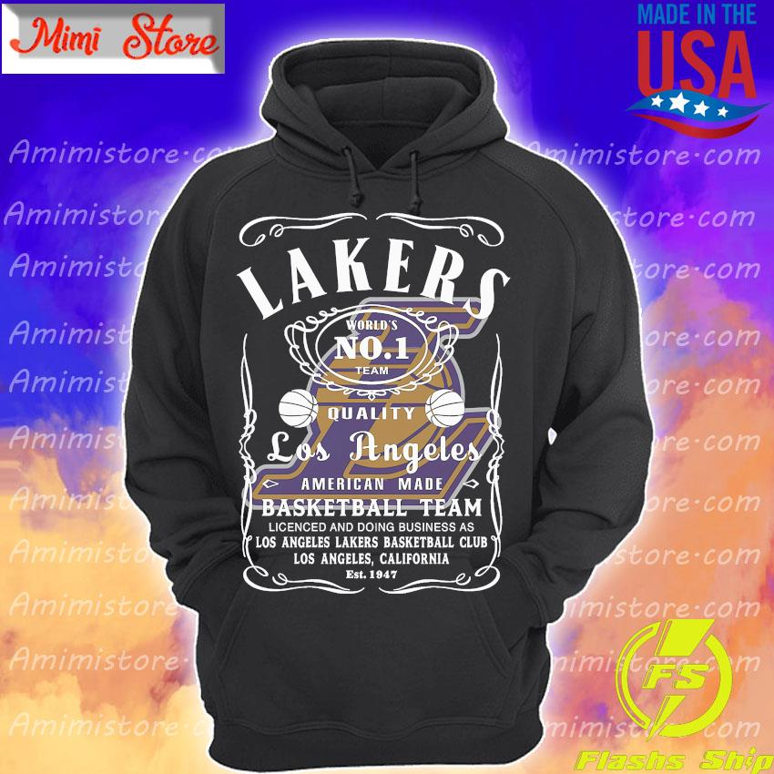 Lakers world's no 1 team quality Los Angeles American made basketball team s Hoodie