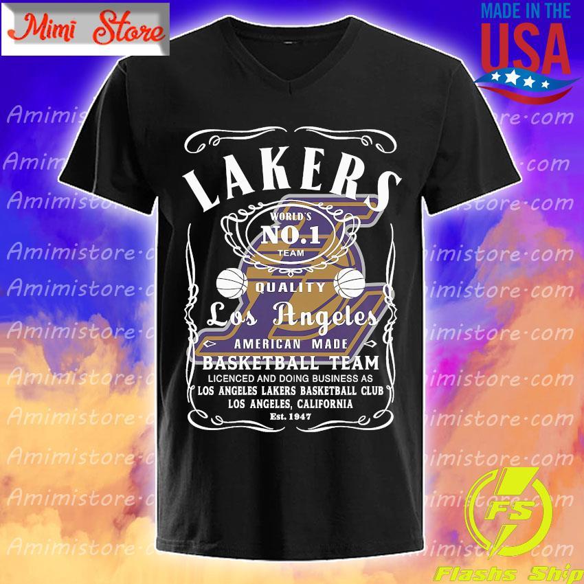 Lakers world's no 1 team quality Los Angeles American made basketball team shirt